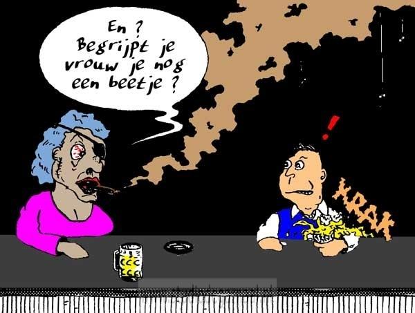 Begrijpt je vrouw je nog een beetje? Cartoon Horeca Mannen Vrouwen