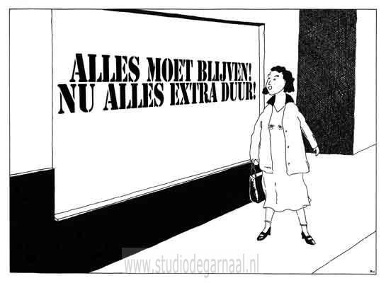 Alles Moet Weg!  - Cartoons door cartoonist & illustrator Ronald Oudman