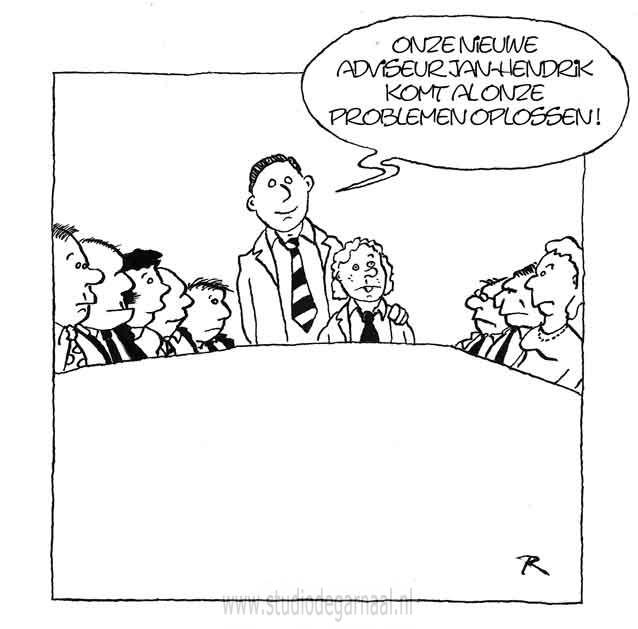 De Nieuwe Adviseur  - Cartoons door cartoonist & illustrator Ronald Oudman