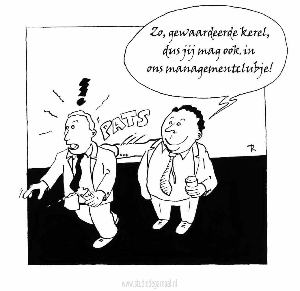 Managementclubje  - Cartoons door cartoonist & illustrator Ronald Oudman