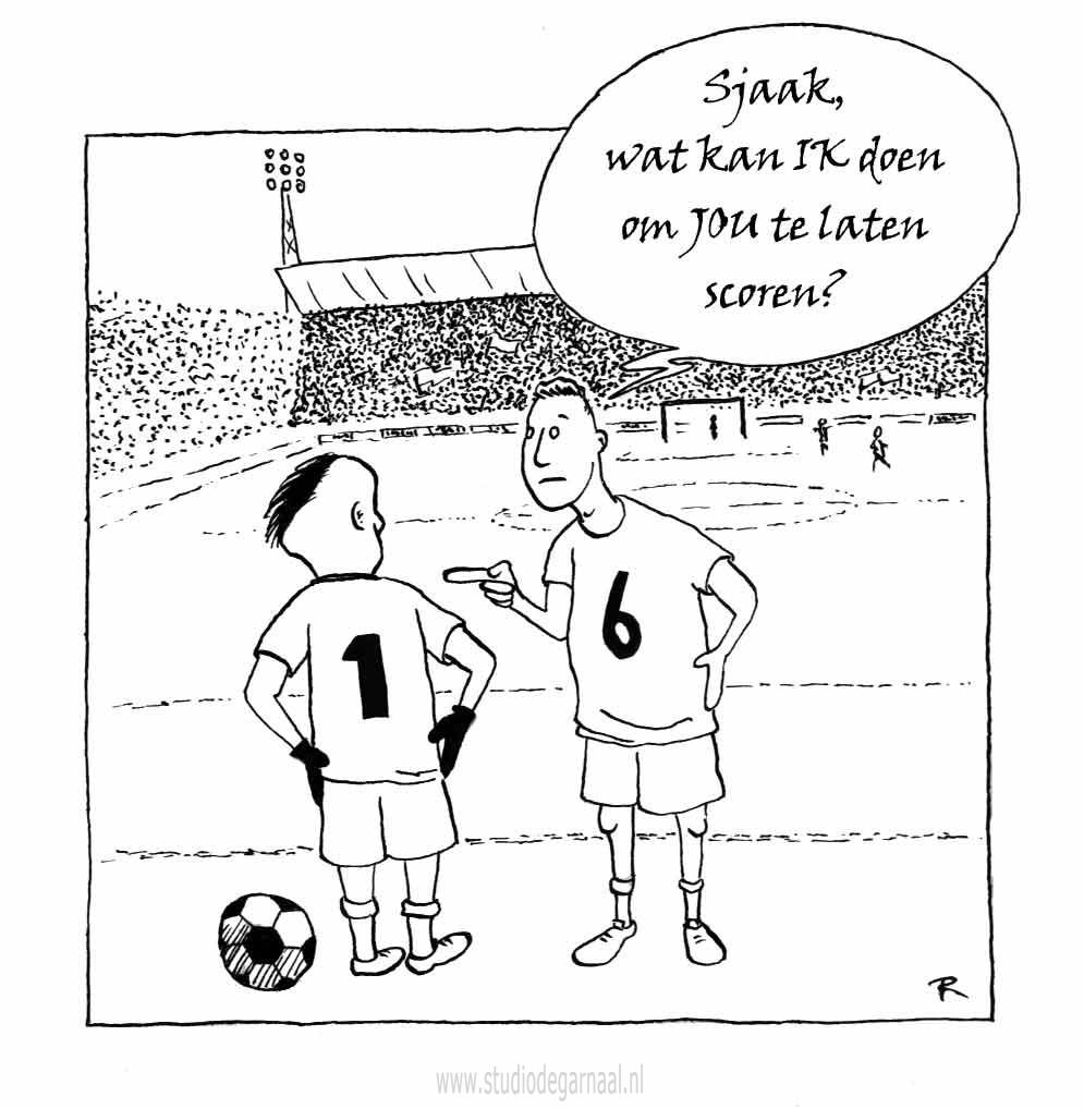 Scoren  - Cartoons door cartoonist & illustrator Ronald Oudman