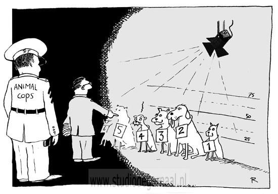 144 Animal Cops (1)  - Cartoons door cartoonist & illustrator Ronald Oudman