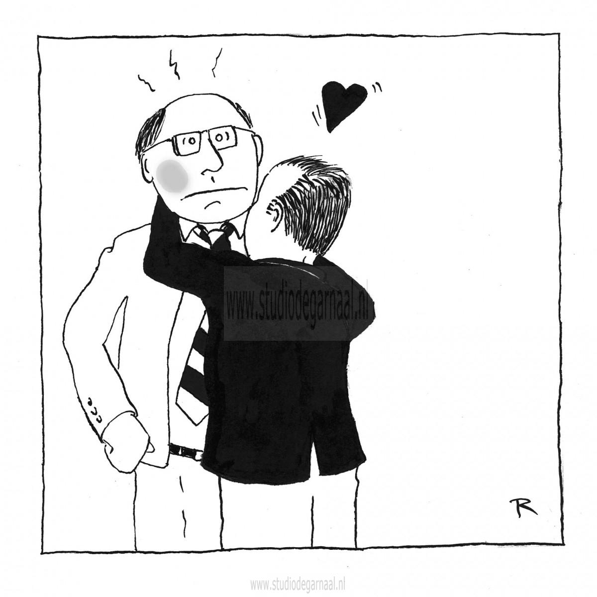 Hou van je klant Cartoon Economie Illustraties Liefde Relaties Werk
