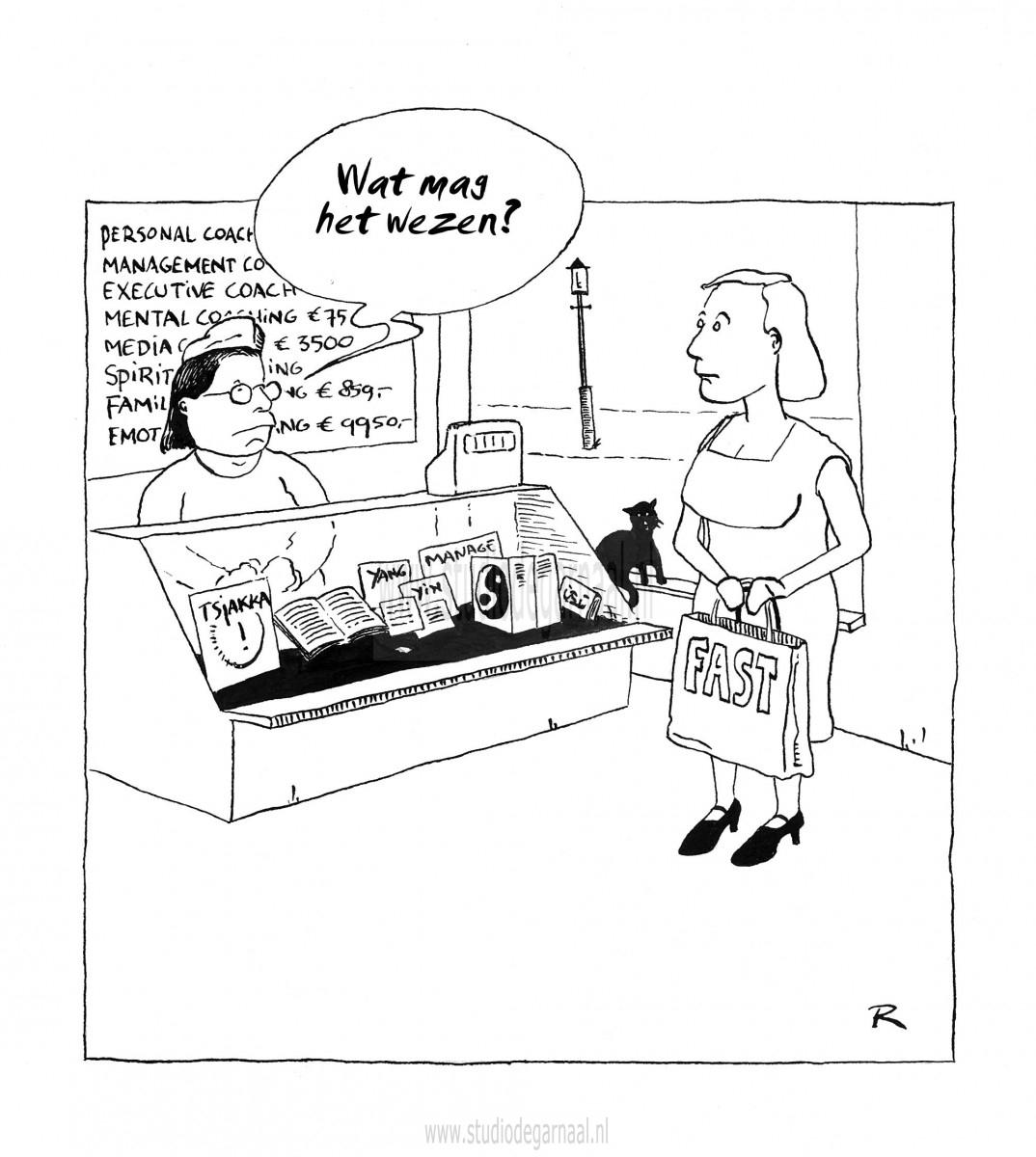 Spiritueel Shoppen  - Cartoons door cartoonist & illustrator Ronald Oudman