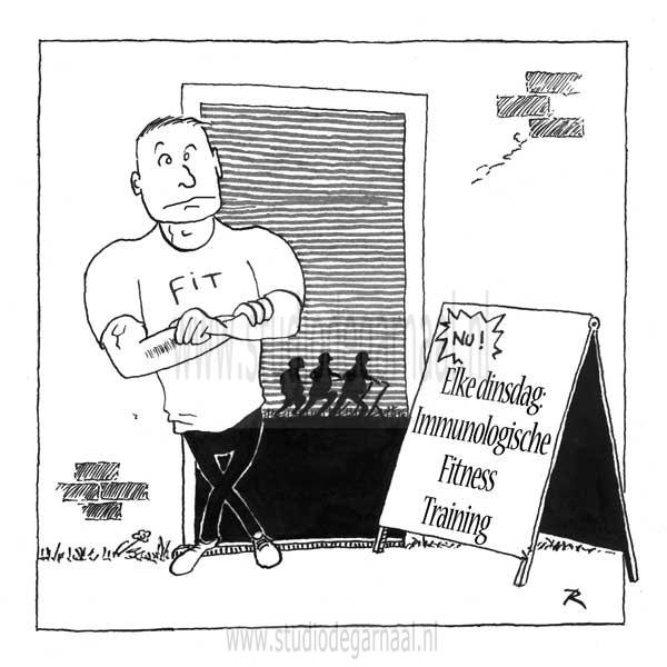 Fitness  - Cartoons door cartoonist & illustrator Ronald Oudman