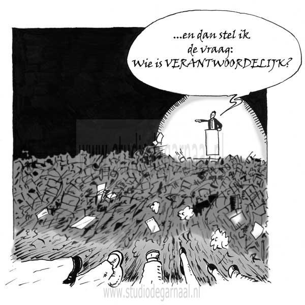 Verantwoordelijk  - Cartoons door cartoonist & illustrator Ronald Oudman