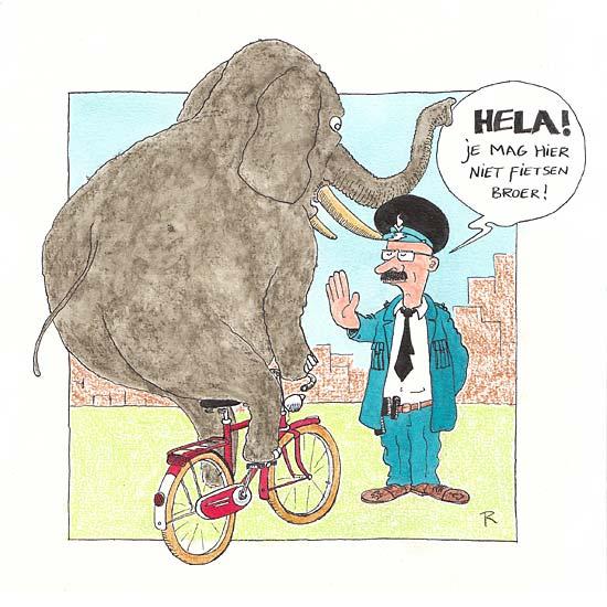 144 Animal Cops (4)  - Cartoons door cartoonist & illustrator Ronald Oudman