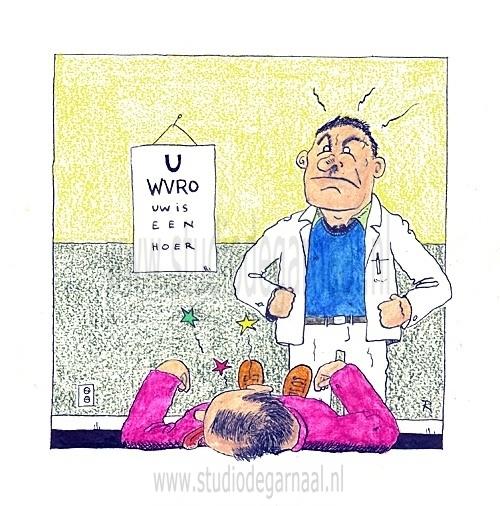 Oogarts Cartoon Medisch Vrouwen
