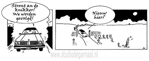 Stront aan de knikker! Cartoon Dood Werk