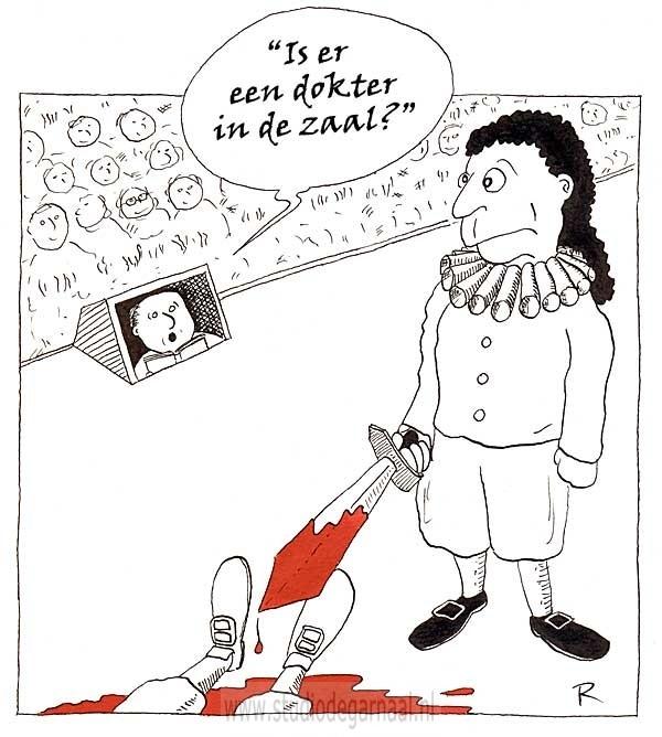 Souffleur (1) Cartoon Dood Geweld Medisch Ongelukken Theater