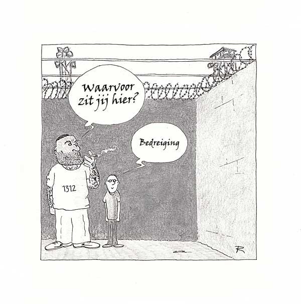 Zware Jongens Cartoon Criminaliteit Geweld