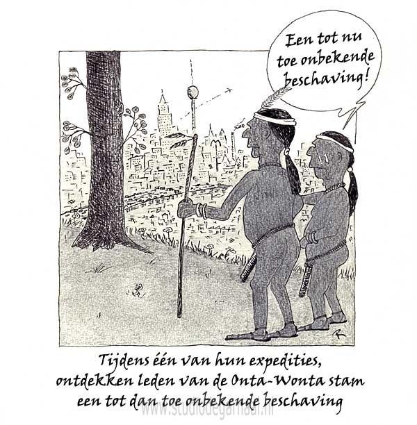 Inboorlingen  - Cartoons door cartoonist & illustrator Ronald Oudman