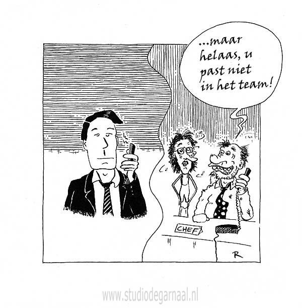 Sollicitatieperikelen  - Cartoons door cartoonist & illustrator Ronald Oudman