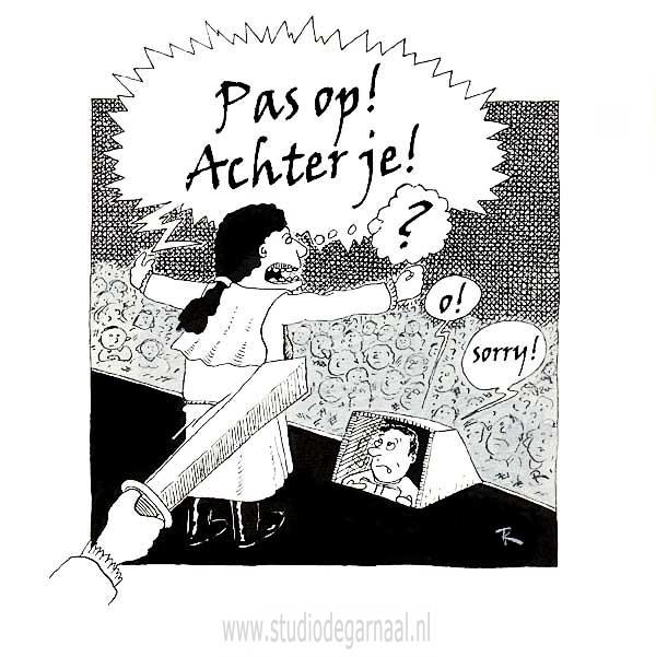 Souffleur (3)  - Cartoons door cartoonist & illustrator Ronald Oudman