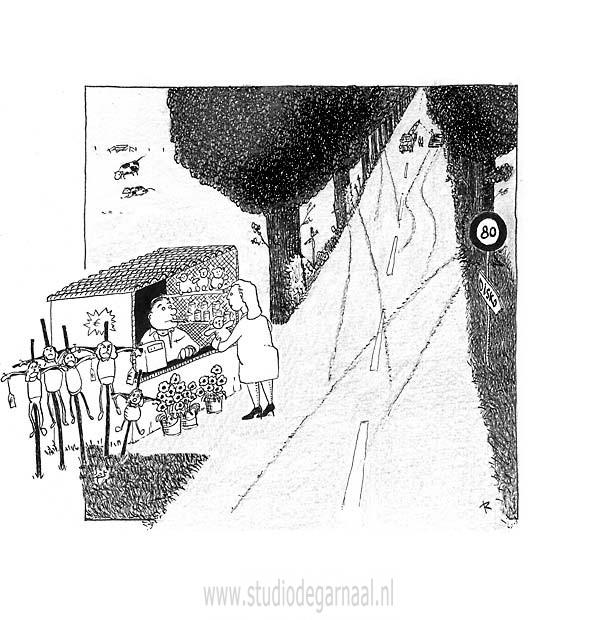 Weekenddoden  - Cartoons door cartoonist & illustrator Ronald Oudman