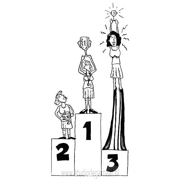A Winning State of Mind  - Cartoons door cartoonist & illustrator Ronald Oudman
