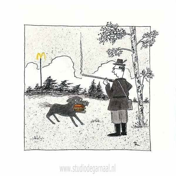 Vette Bek Cartoon Dieren Horeca Natuur Ongelukken