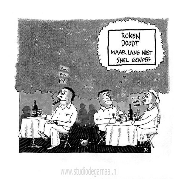 Roken is Dodelijk! Cartoon Dood Horeca