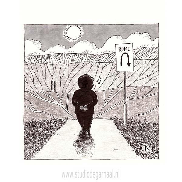 Rome  - Cartoons door cartoonist & illustrator Ronald Oudman