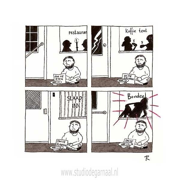 Je natje en je droogje  - Cartoons door cartoonist & illustrator Ronald Oudman