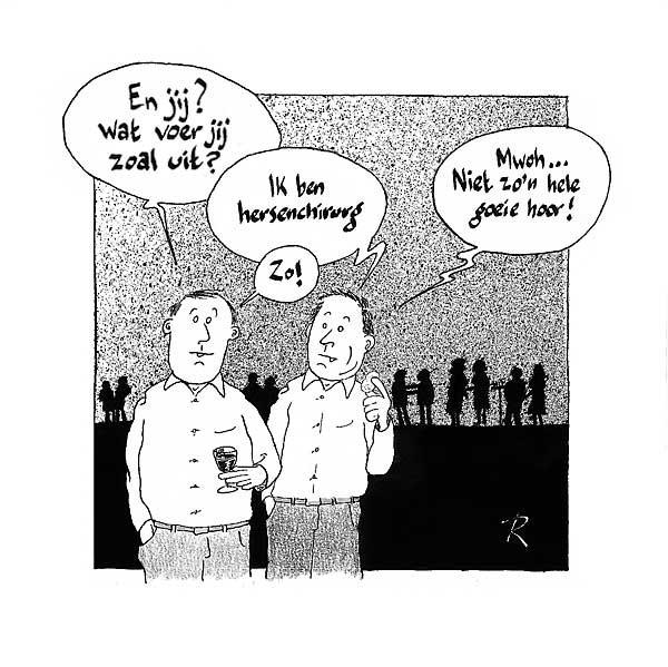 Hersenchirurg Cartoon Medisch Werk