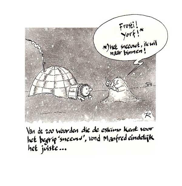 Het Sneeuwt! Ik wil naar binnen! Cartoon Multiculti