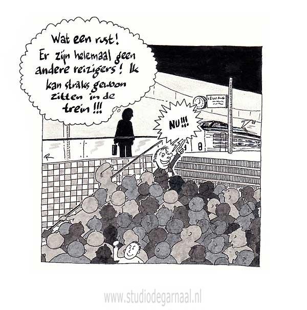 L'enfer c'est les autres Cartoon Verkeer