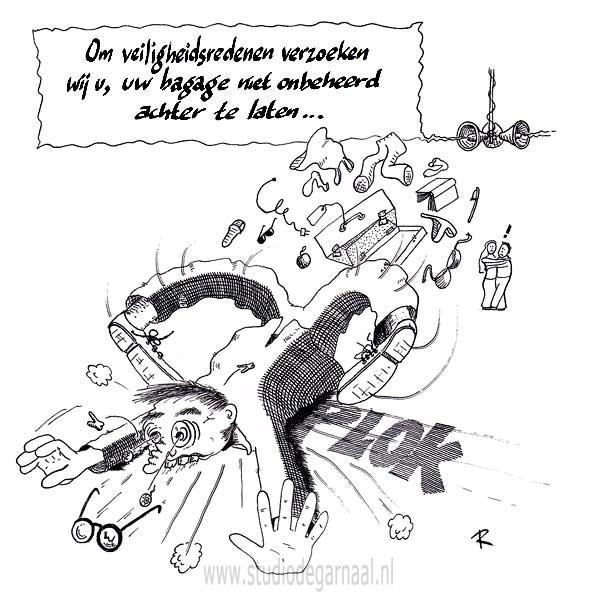 Veiligheidsredenen  - Cartoons door cartoonist & illustrator Ronald Oudman