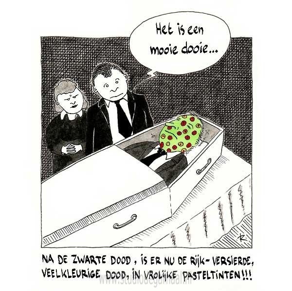 De Zwarte Dood is zóóó passé! Cartoon Dood Medisch Ziekte