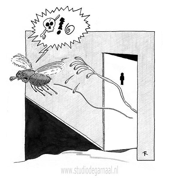 Pisvlieg Cartoon Dieren Mannen