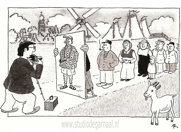 Folklore Cartoon Vakantie