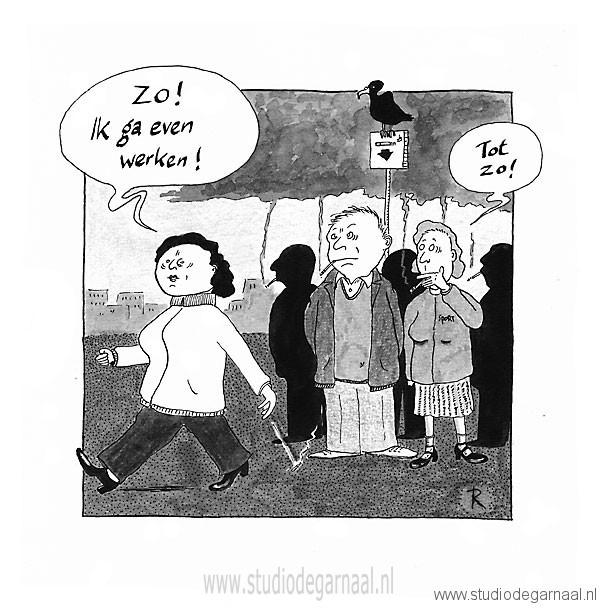 Rookpauze Cartoon Werk