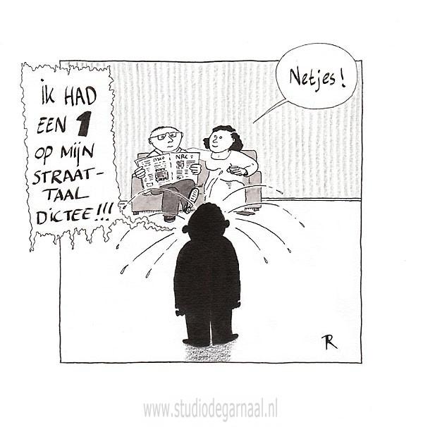 Straattaalachterstand  - Cartoons door cartoonist & illustrator Ronald Oudman