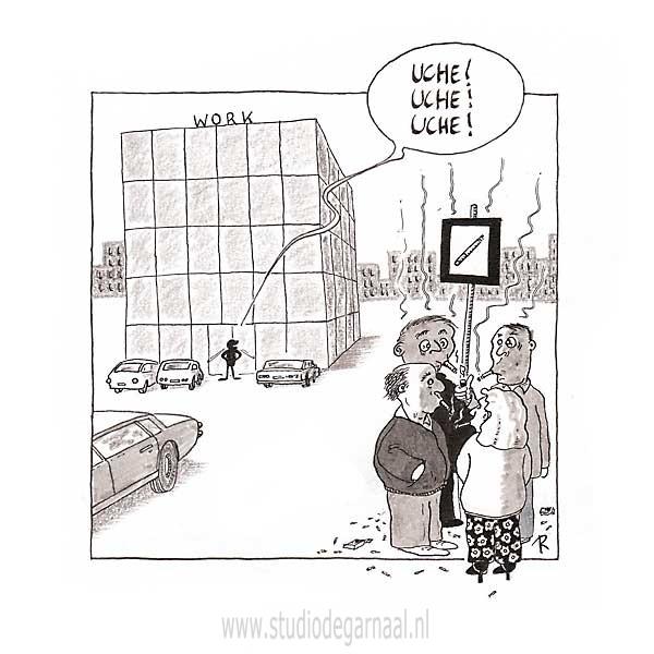 Rokershoest Cartoon Werk