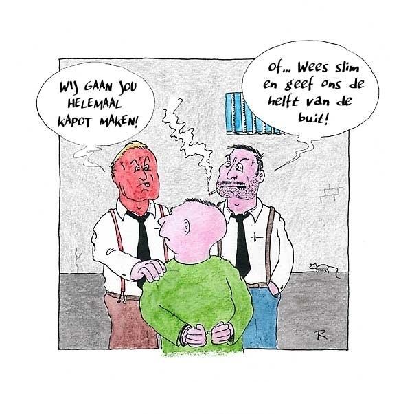Bad Cop / Bad Cop  - Cartoons door cartoonist & illustrator Ronald Oudman