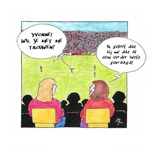 Wil je met met Trouwen?  - Cartoons door cartoonist & illustrator Ronald Oudman