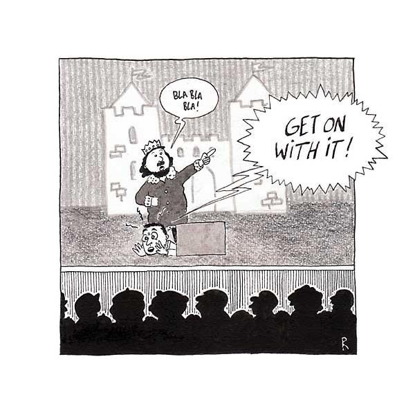 Souffleur (4)  - Cartoons door cartoonist & illustrator Ronald Oudman