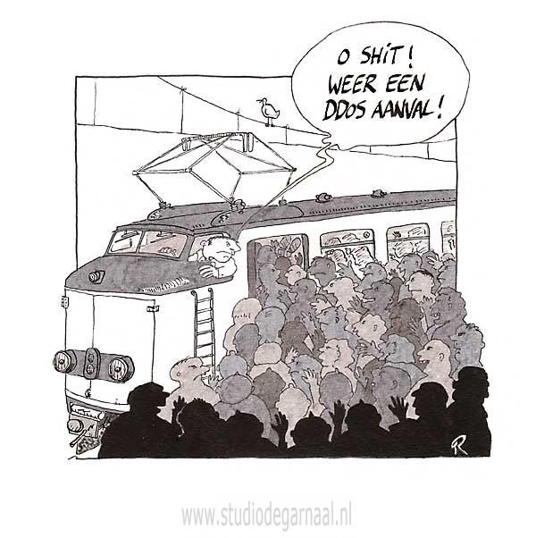 DDos Attack! Cartoon Verkeer