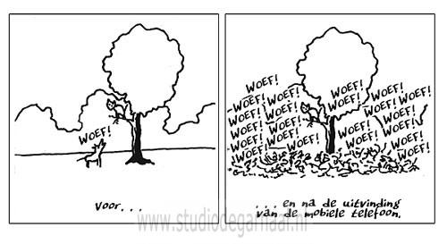 Mobieltje  - Cartoons door cartoonist & illustrator Ronald Oudman