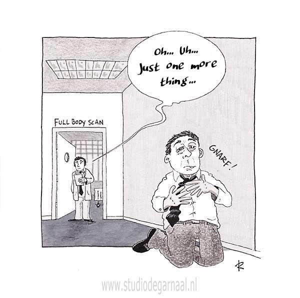 Full Body Scan Cartoon Medisch Ziekte