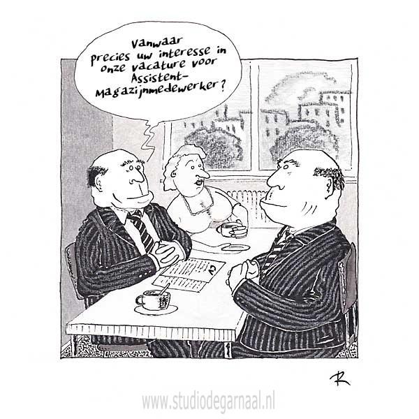 Passend Werk  - Cartoons door cartoonist & illustrator Ronald Oudman