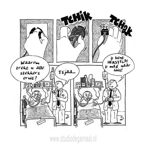 Unplugged  - Cartoons door cartoonist & illustrator Ronald Oudman