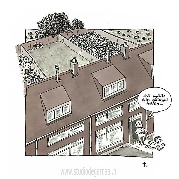 Buurjongen  - Cartoons door cartoonist & illustrator Ronald Oudman