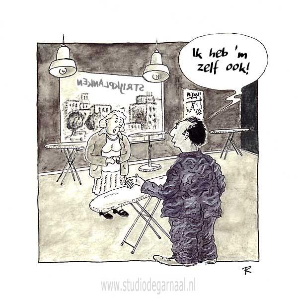Hij heeft 'm zelf ook  - Cartoons door cartoonist & illustrator Ronald Oudman