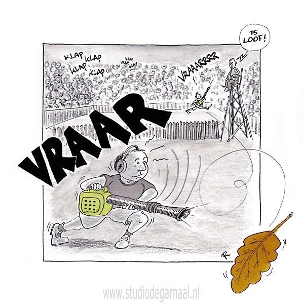 Wimbladon  - Cartoons door cartoonist & illustrator Ronald Oudman