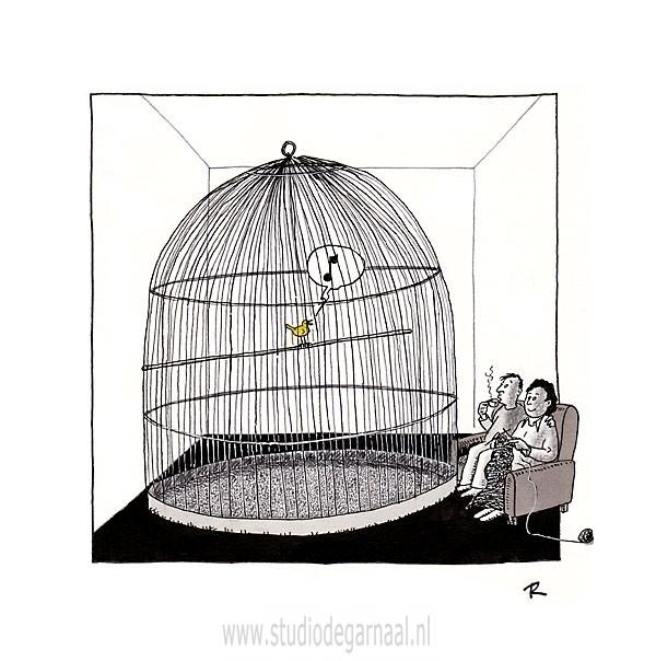 Freedom  - Cartoons door cartoonist & illustrator Ronald Oudman