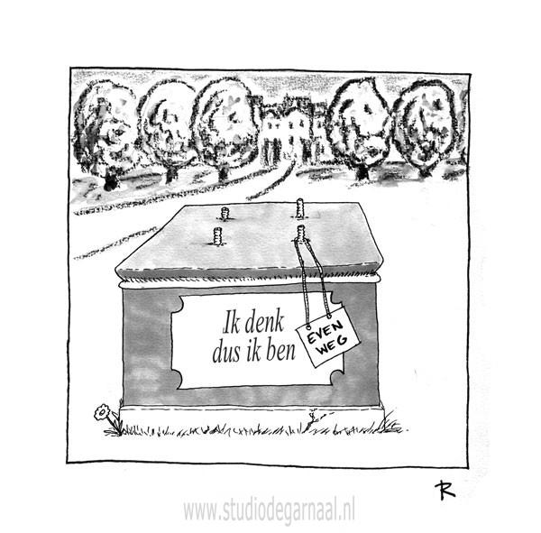 Ik denk dus ik ben...  - Cartoons door cartoonist & illustrator Ronald Oudman