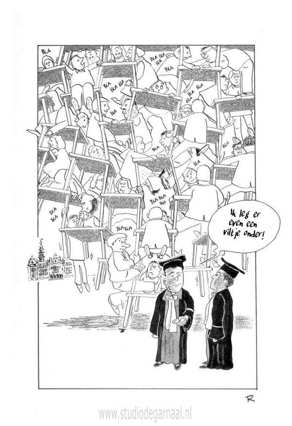 Keukentafelgesprekken Cartoon Economie Medisch Politiek Werk in Opdracht
