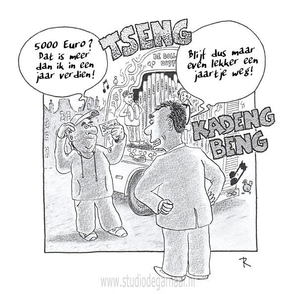 Draaiorgel Cartoon Muziek