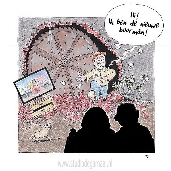 Nieuwe Boorman  - Cartoons door cartoonist & illustrator Ronald Oudman